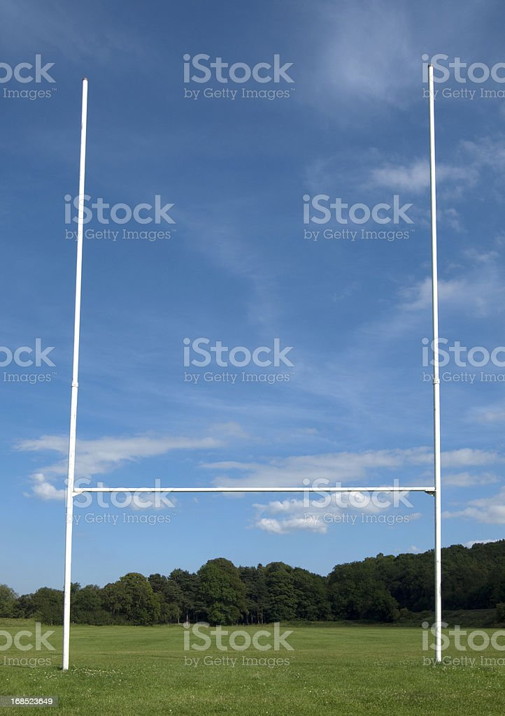Rugby Goal Posts royalty-free stock photo
