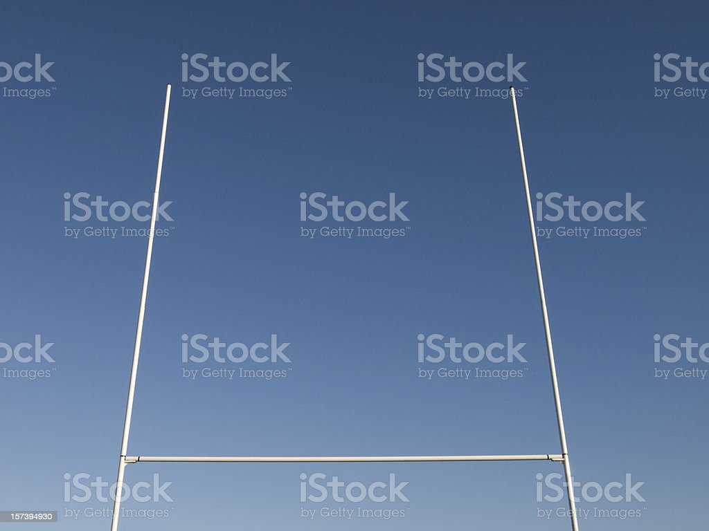 Rugby Goalposts against Blue Sky stock photo