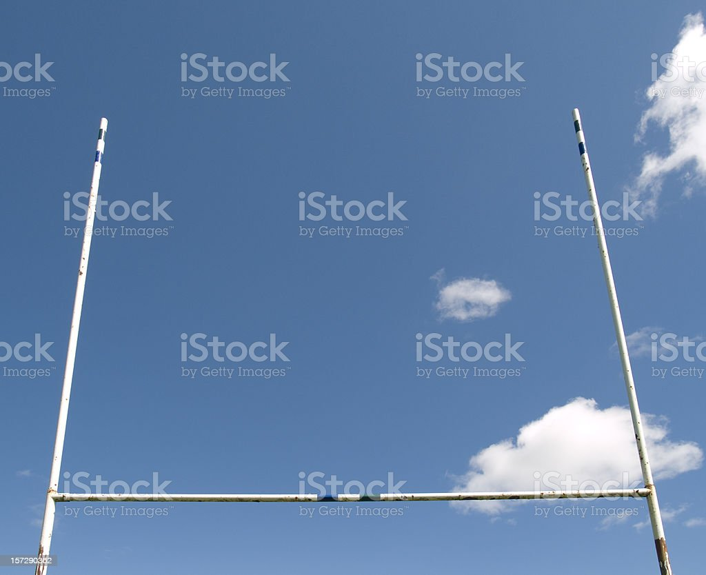 Rugby Goalposts stock photo
