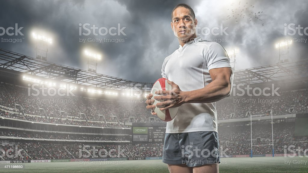 Rugby Hero stock photo