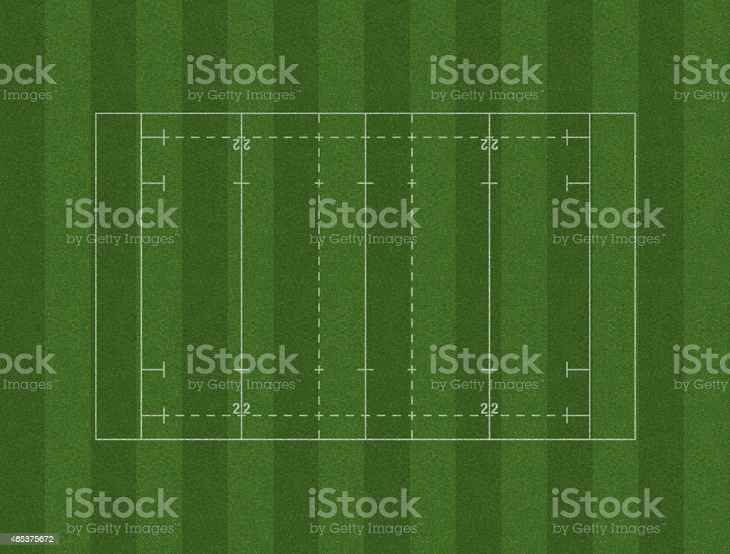 Rugby Pitch Layout stock photo