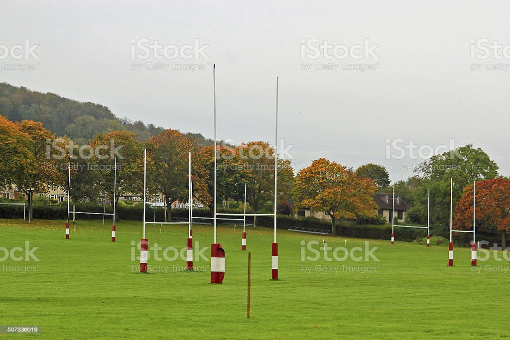 Rugby pitches stock photo