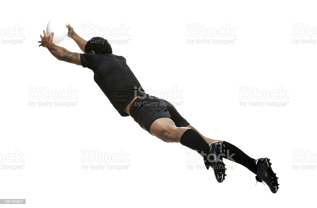 Rugby player in action royalty-free stock photo