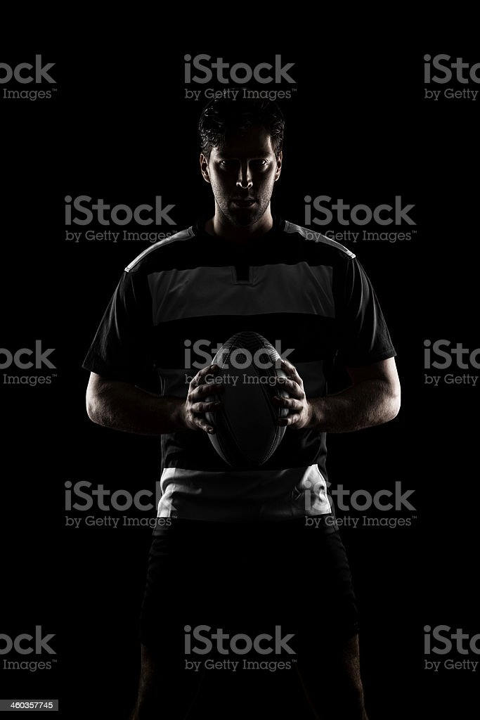 Rugby player stock photo