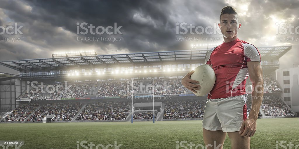 Rugby Player Portrait stock photo