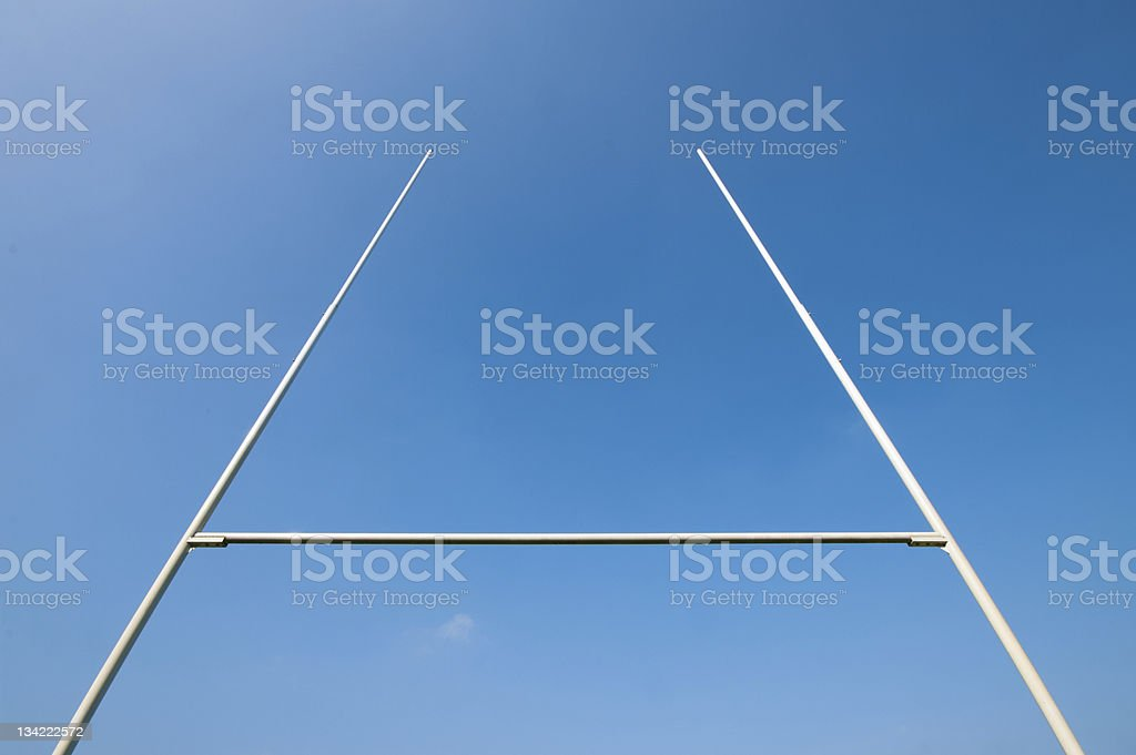 rugby post stock photo