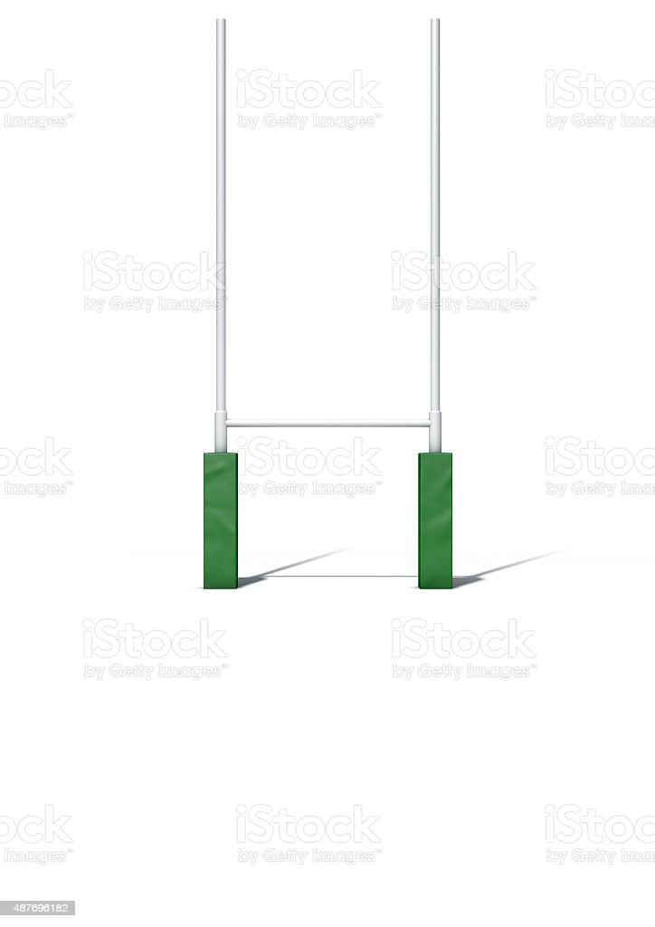 Rugby Posts Isolated stock photo