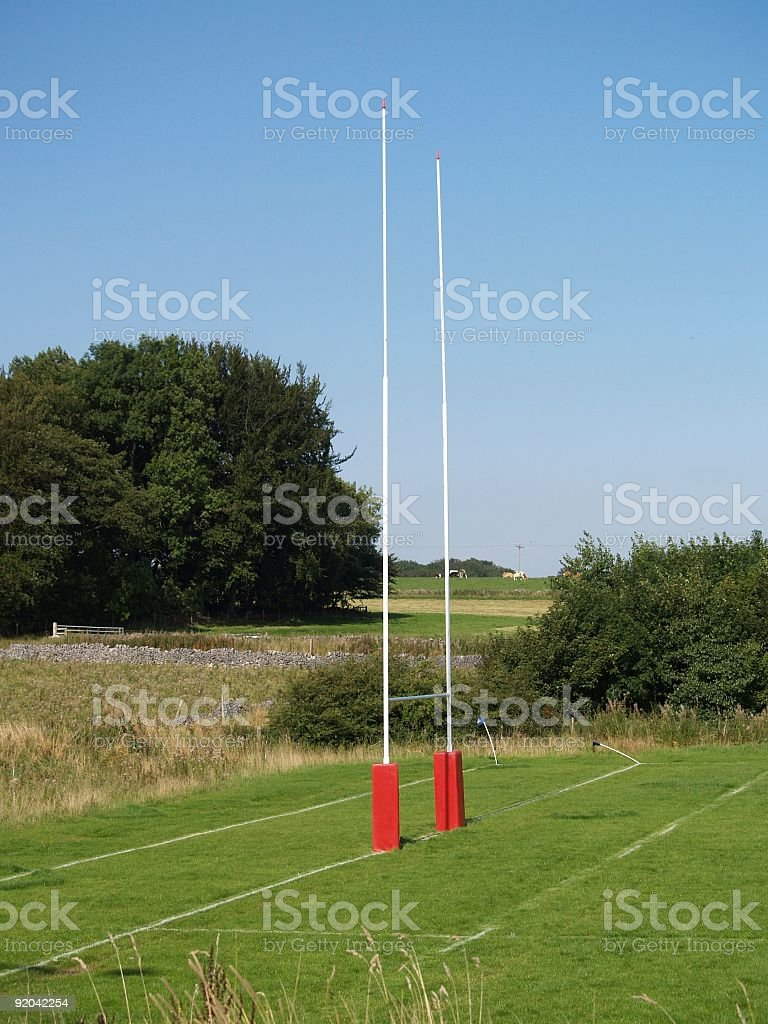 Rugby Posts royalty-free stock photo