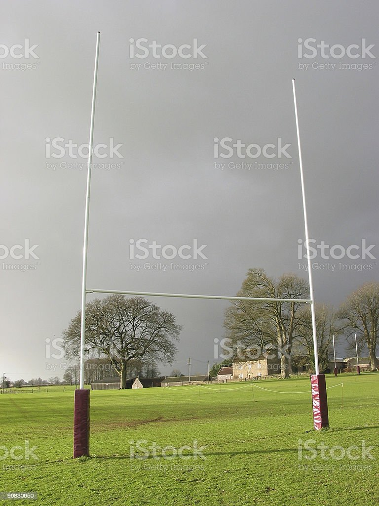 Rugby Posts stock photo