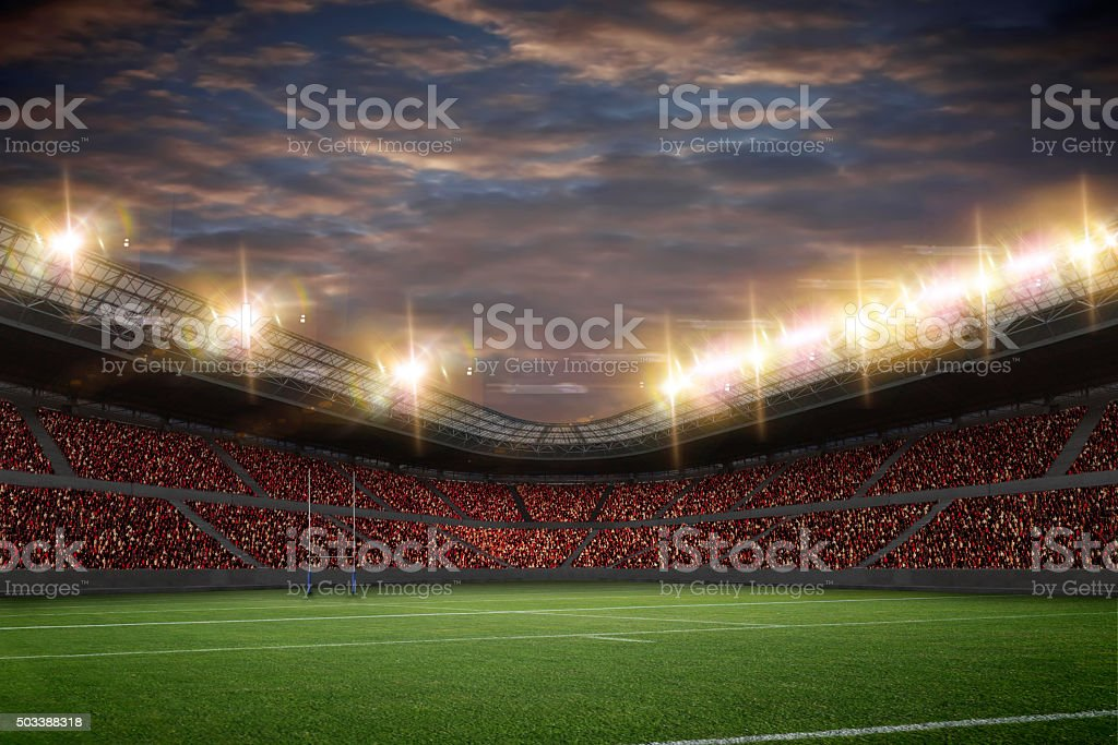 Rugby Stadium stock photo