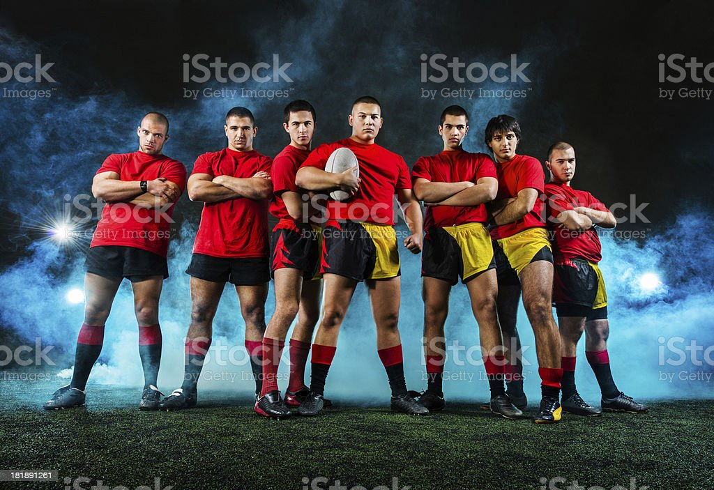 Rugby team. royalty-free stock photo