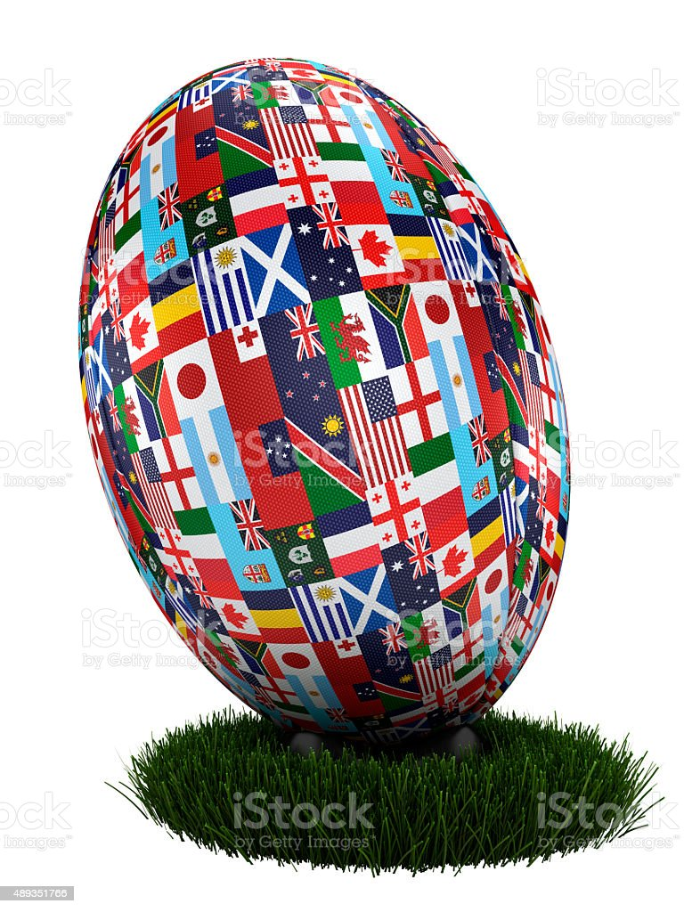 Rugby World Cup Ball 2015 stock photo