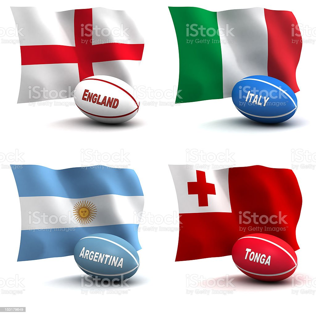 Rugby World Cup - Participating Nations stock photo