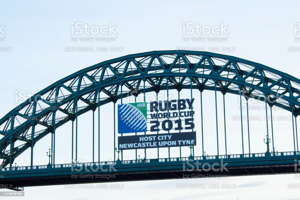 Rugby World Cup Sign stock photo