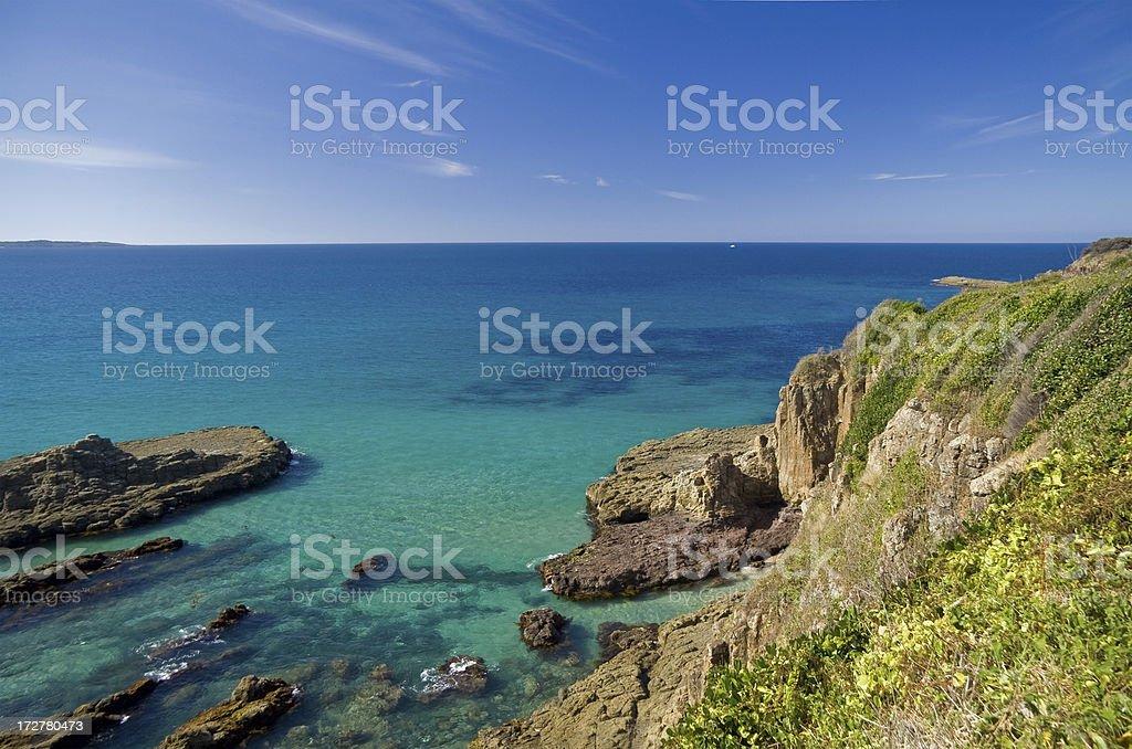 Ruged Australian coastline royalty-free stock photo