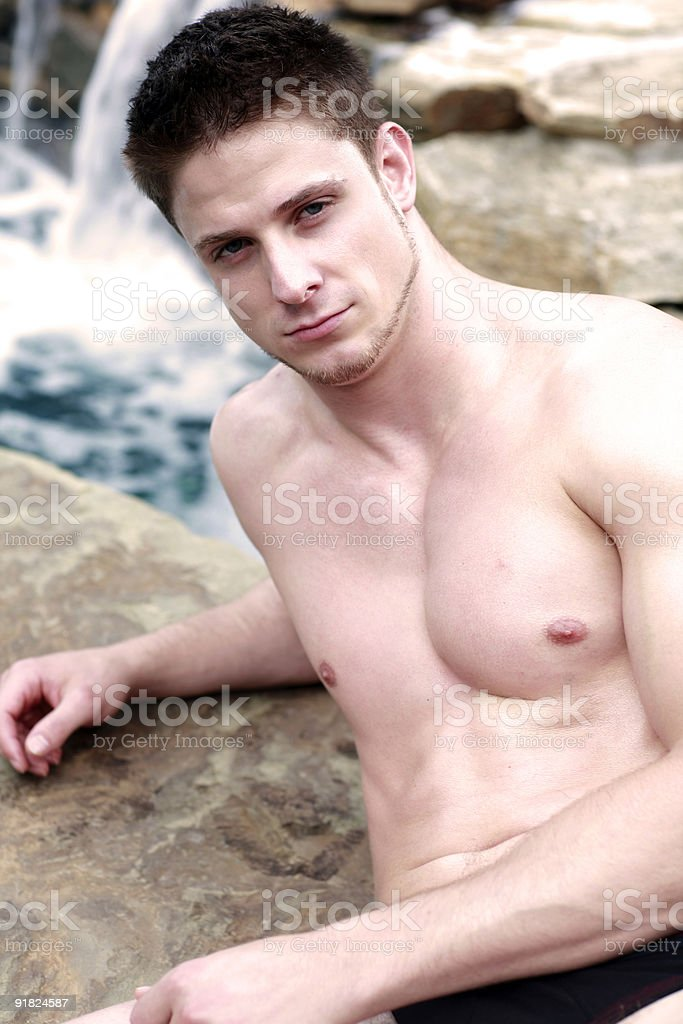Rugged and Sexy Young Male royalty-free stock photo