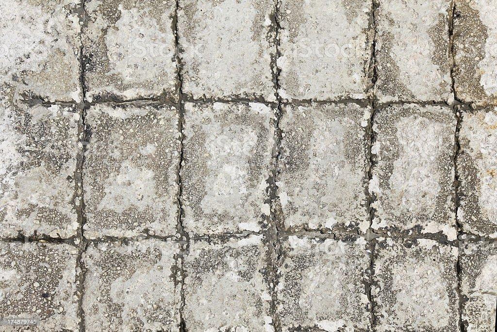 rugged artificial concrete rock stone wall tile floor Croatia royalty-free stock photo