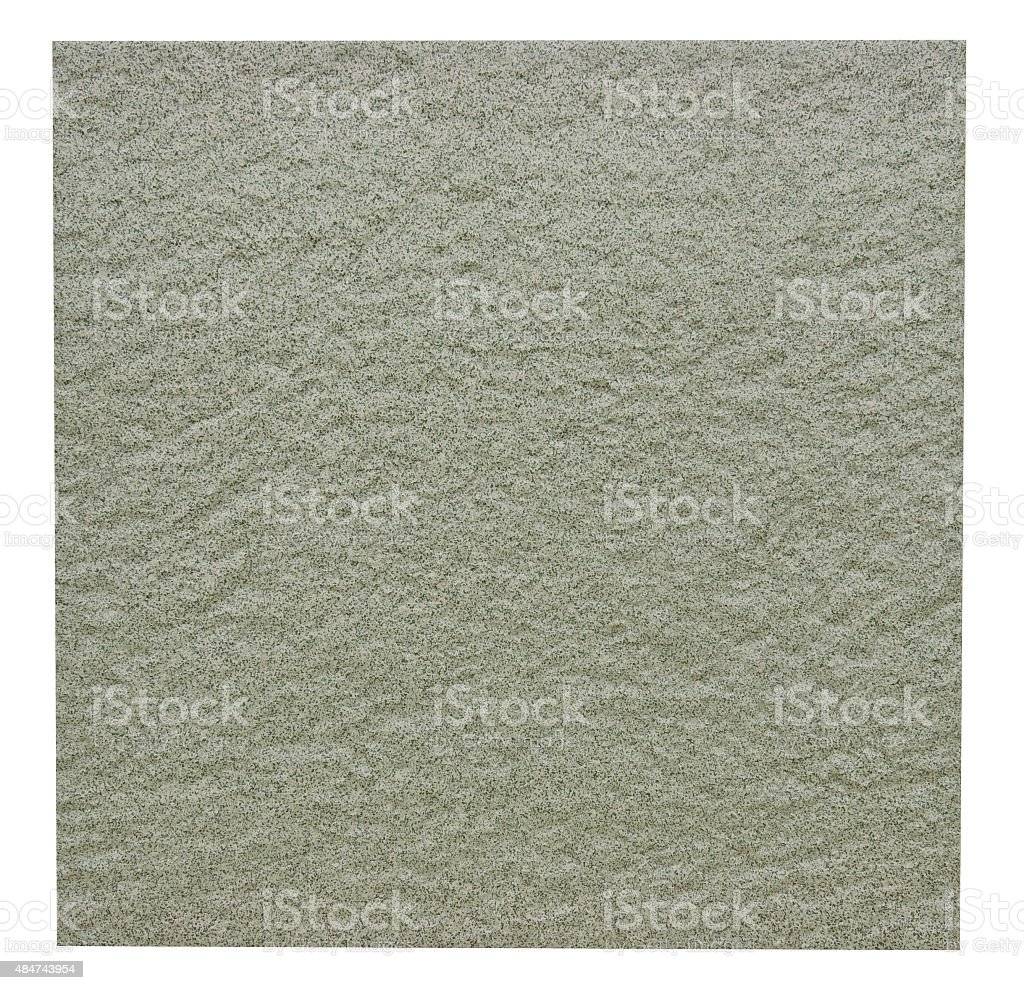 Rugged ceramic floor tile in green isolated with clipping path stock photo