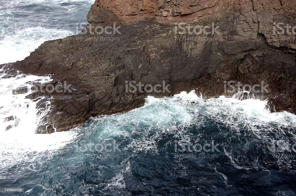 Rugged Cliff Bottom royalty-free stock photo