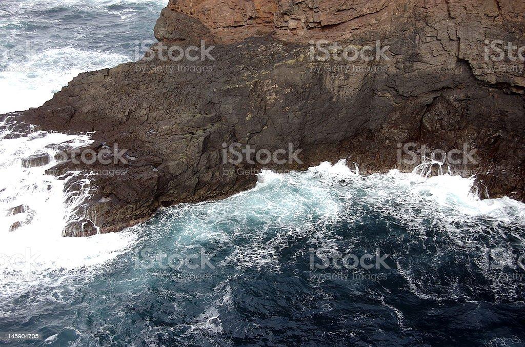 Rugged Cliff Bottom stock photo