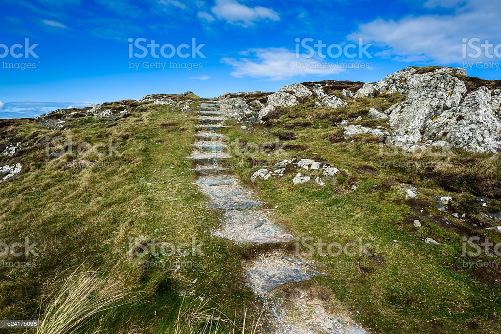 Rugged Coastal Footpath stock photo