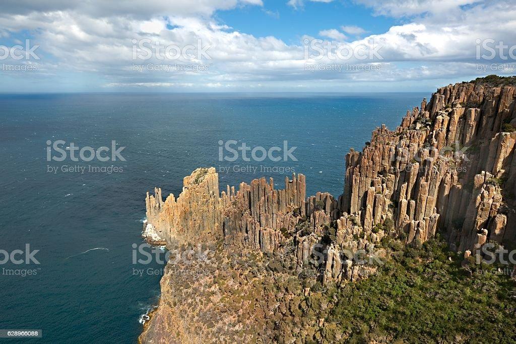 Rugged coastline cliffs stock photo
