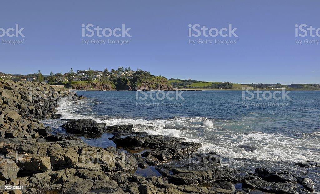 rugged coastline, Kiama stock photo