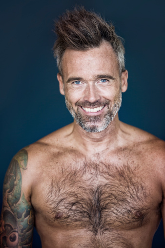 Middle age naked men