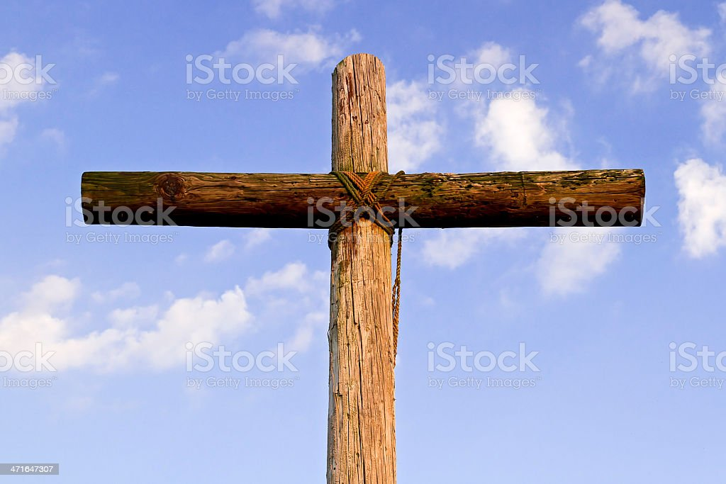 Robusto Cross e nuvole foto stock royalty-free