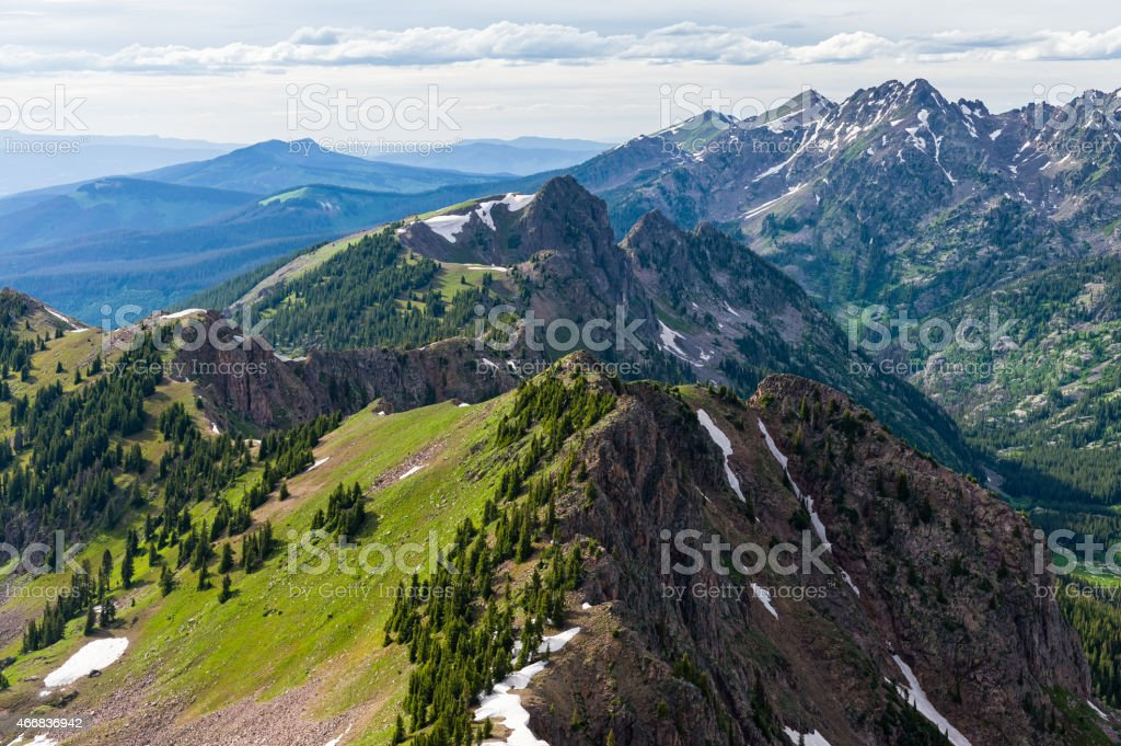 Rugged Gore Range View in Summer stock photo