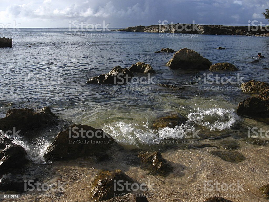 Rugged Hawaiian Beach stock photo
