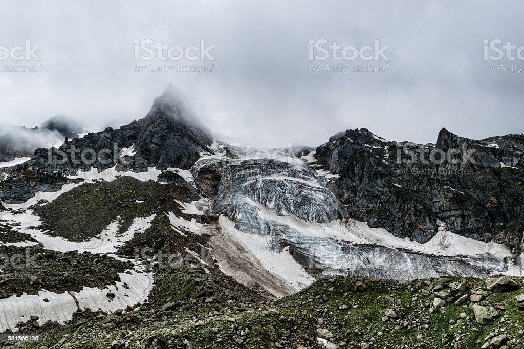 Rugged Himalayan peaks stock photo