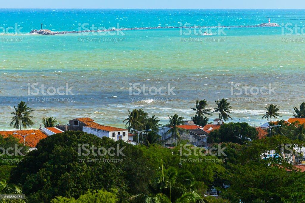 Rugged Islet in Brazil stock photo