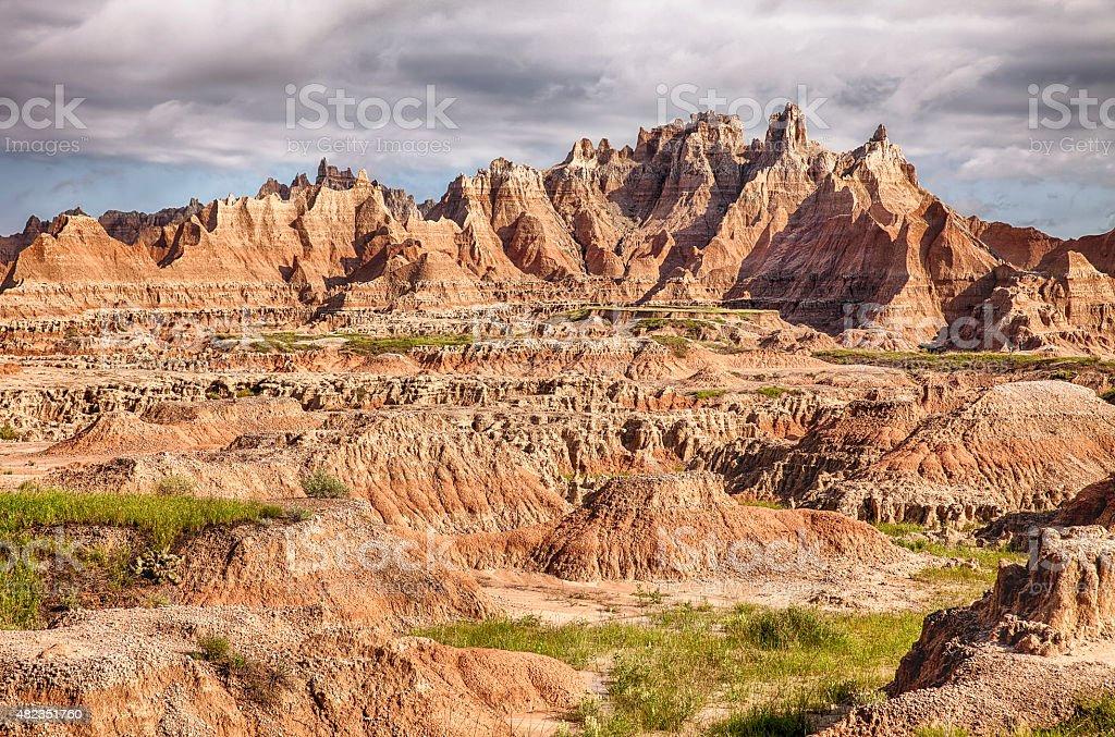 Rugged Landscape In Badlands stock photo