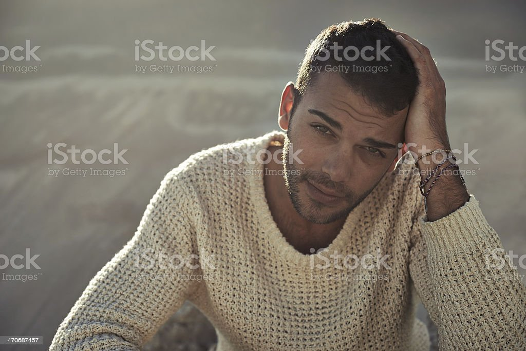 Rugged man stock photo