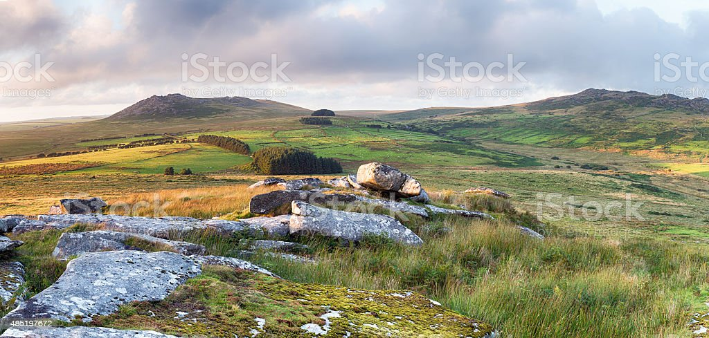Rugged Moorland in Cornwall stock photo