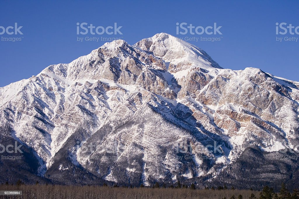 Rugged Mountain found in Jasper Alberta Canada stock photo