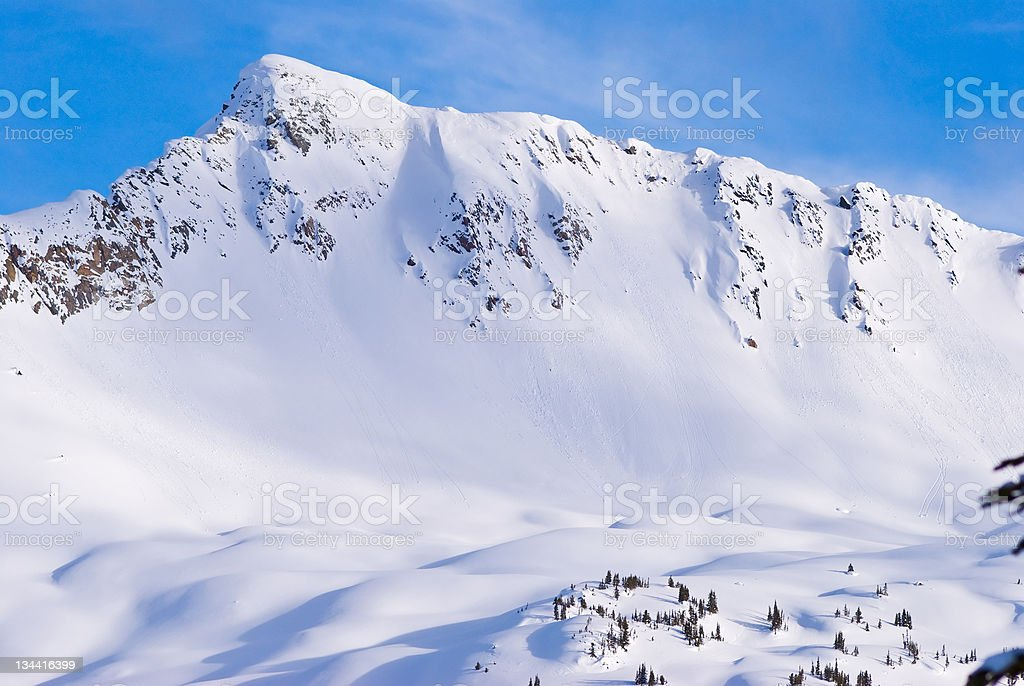 Rugged Mountain in Selkirk Range Canada royalty-free stock photo