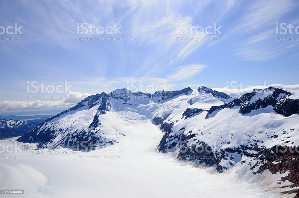 Rugged mountains in Alaska royalty-free stock photo