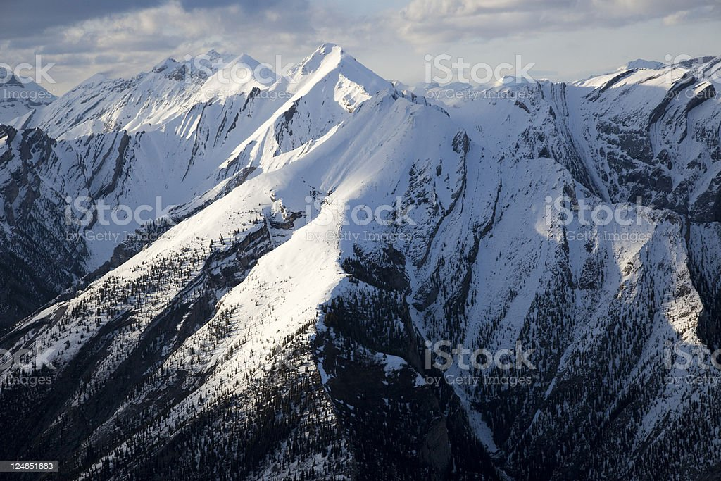Rugged Mountains in Winter stock photo