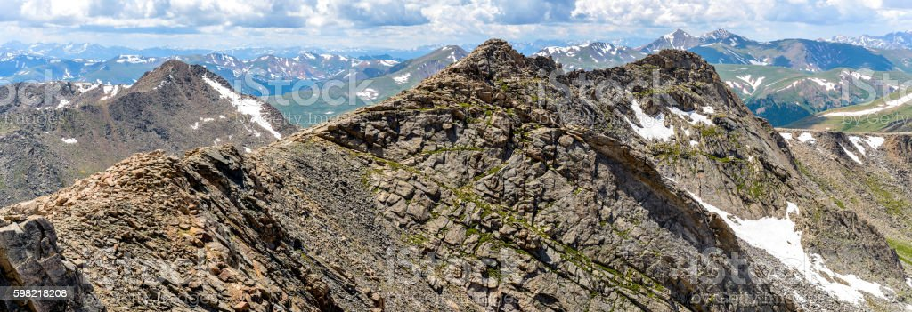 Rugged Mountains stock photo