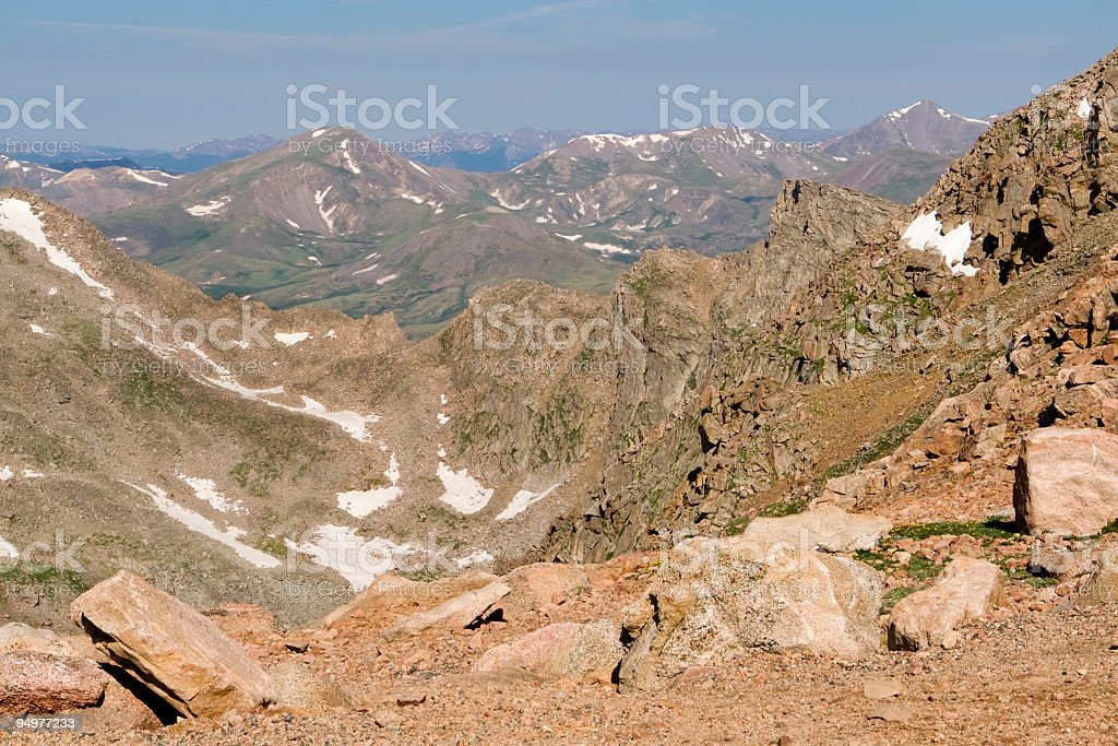 Rugged Mountaintop stock photo