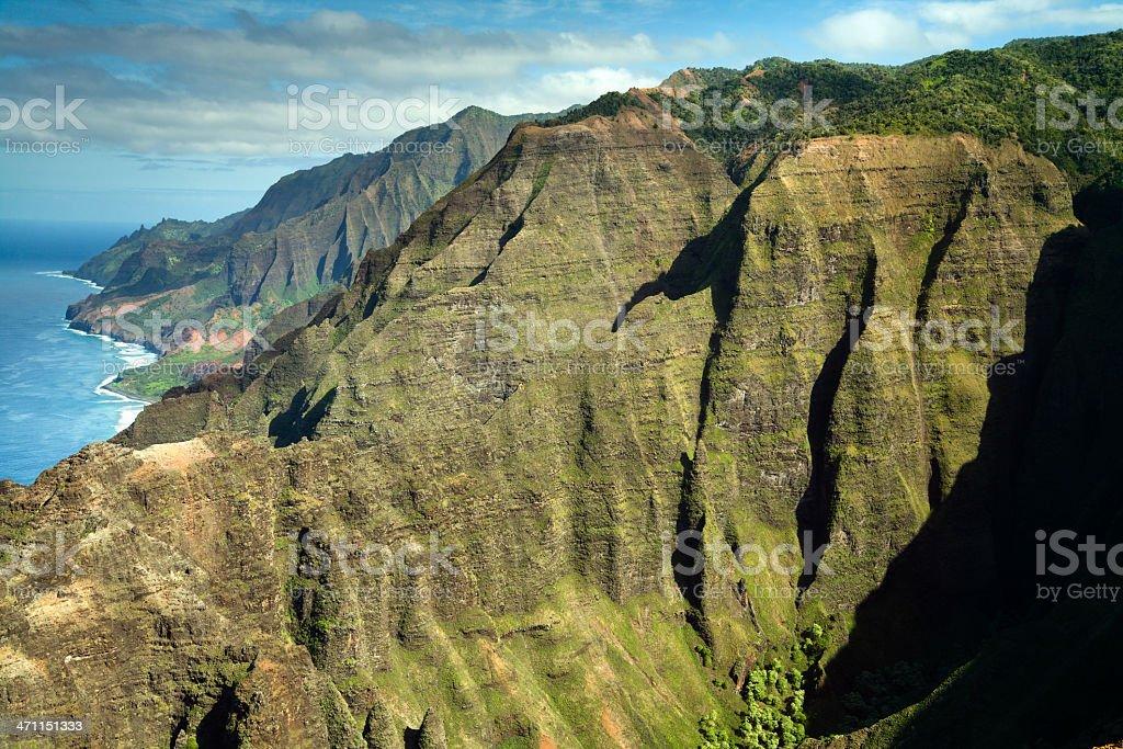 Rugged Na Pali Coastline of Kauai, Hawaii, USA. stock photo