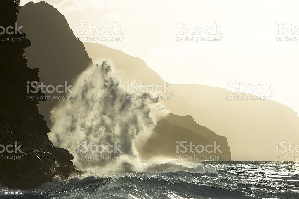 Rugged Napali Coastline of Kauai, Hawaii, USA. royalty-free stock photo