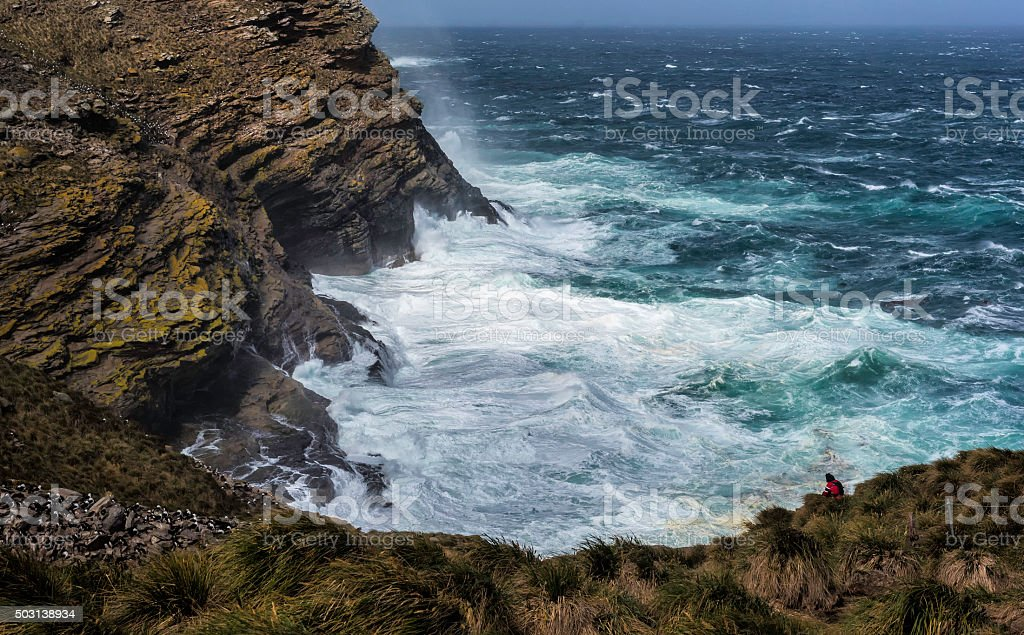 Rugged Ocean Coastline stock photo