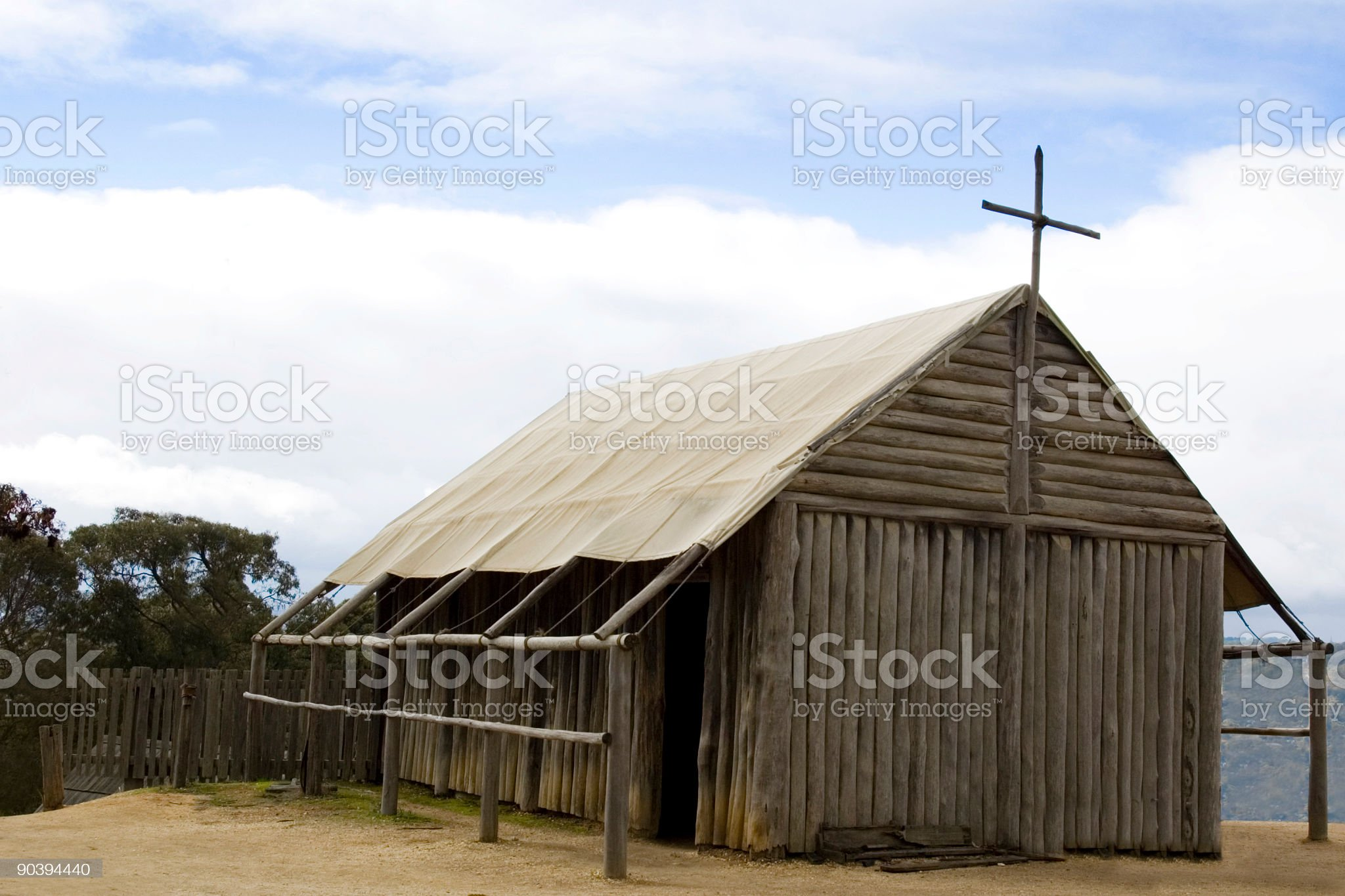 Rugged Old Church royalty-free stock photo