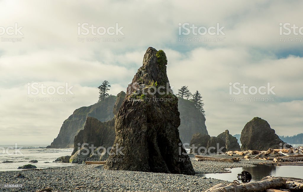 Rugged Pacific Coasline stock photo