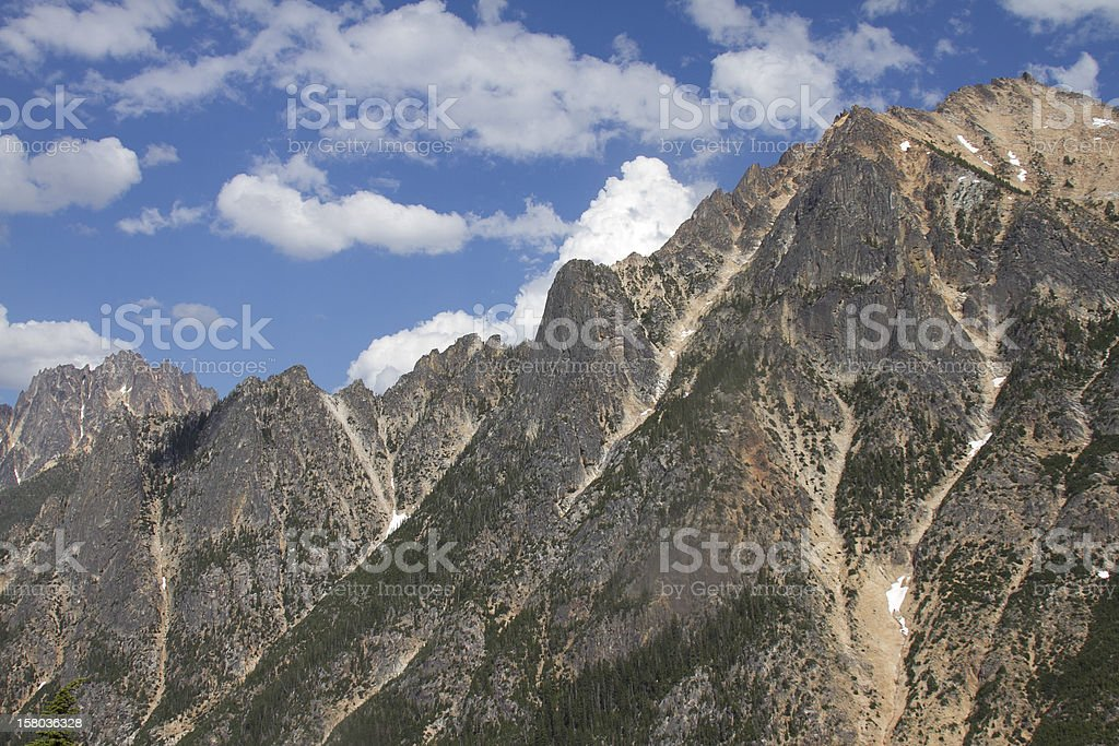 Rugged peaks royalty-free stock photo