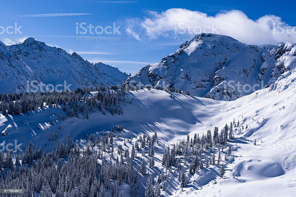 Rugged Peaks Sawatch Mountains stock photo