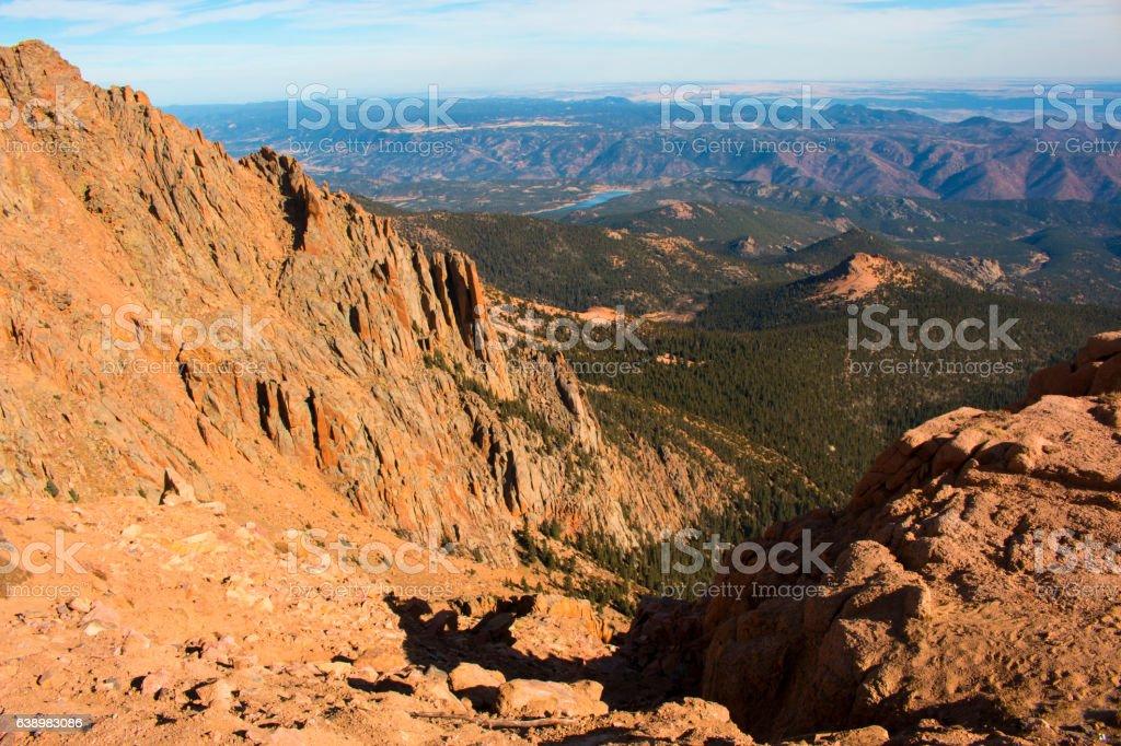 Rugged Pikes Peak stock photo